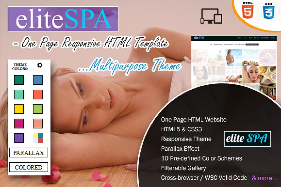 Elite SPA-One Page Responsive Theme ~ Landing Page Templates