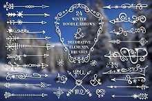 Winter arrows & decor elements set