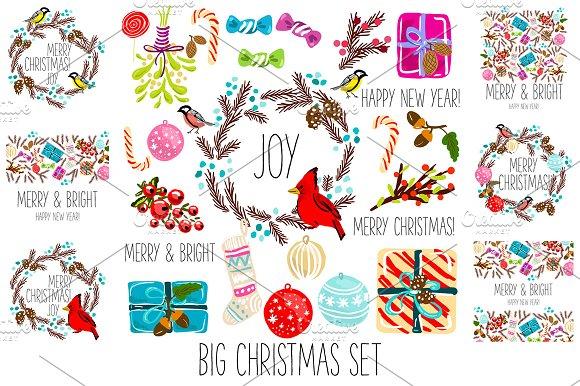 26 Christmas clip arts + 6 cards