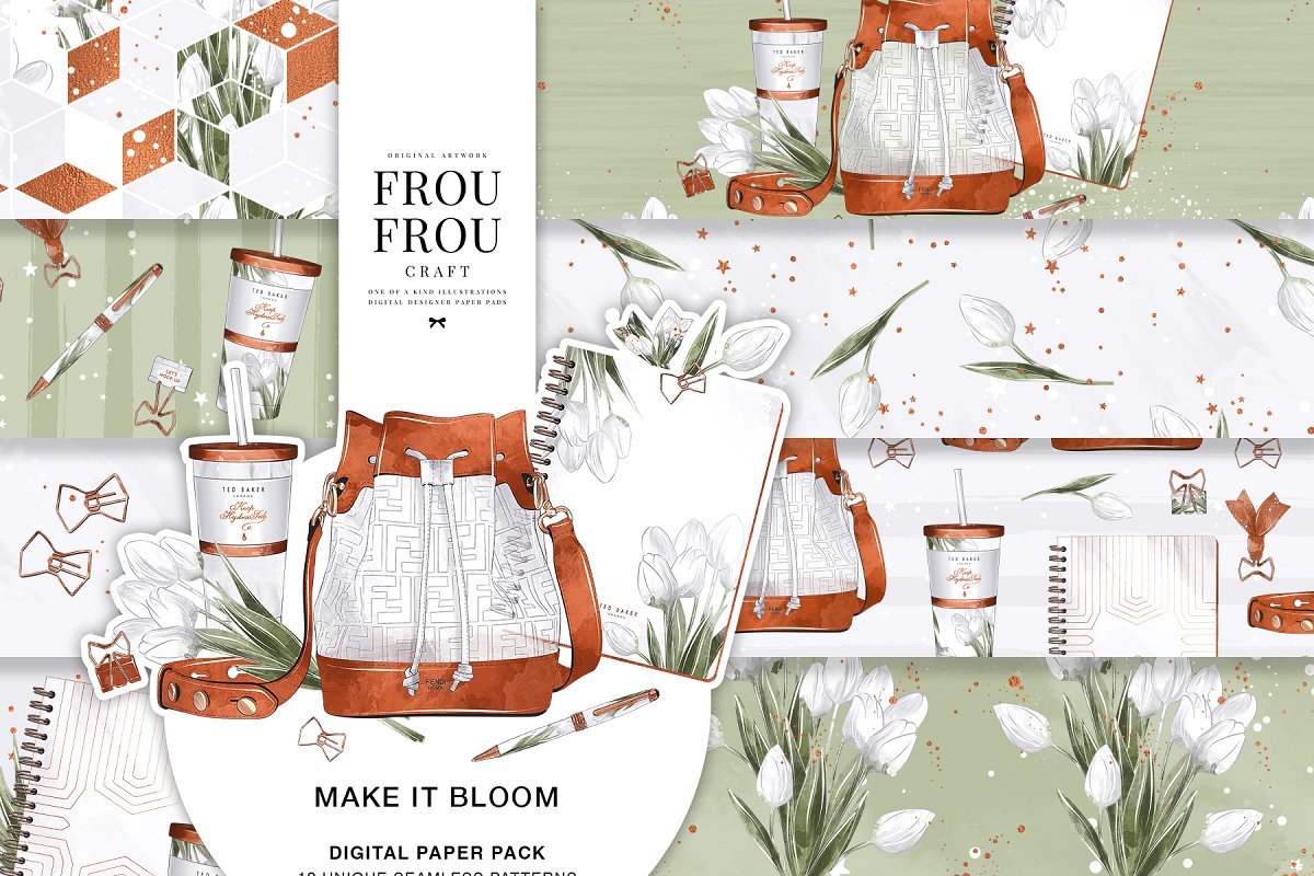 Floral Stationery Tulip Paper Pack