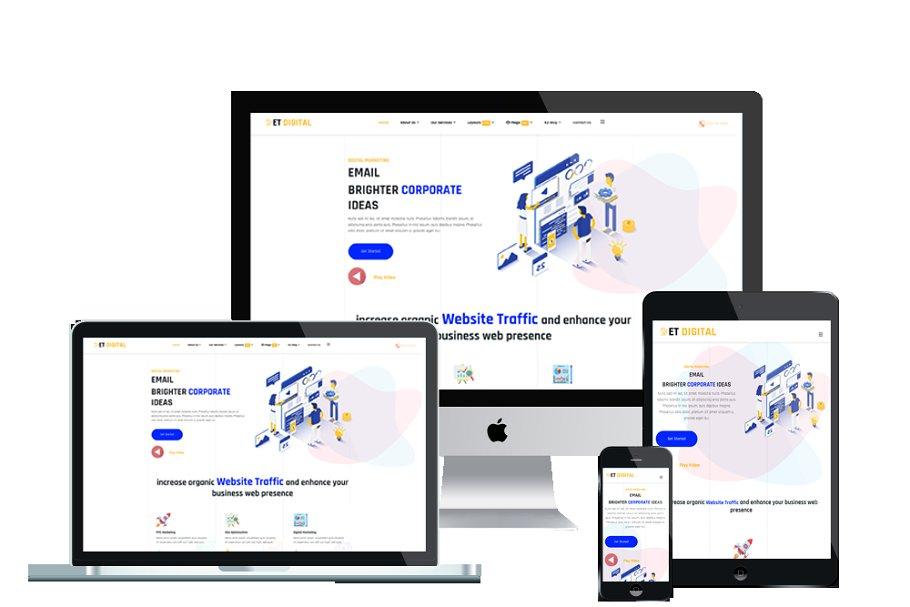 ET Digital Marketing Company website