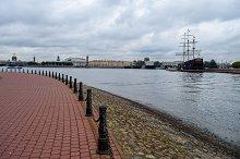 Autumn over the Neva river