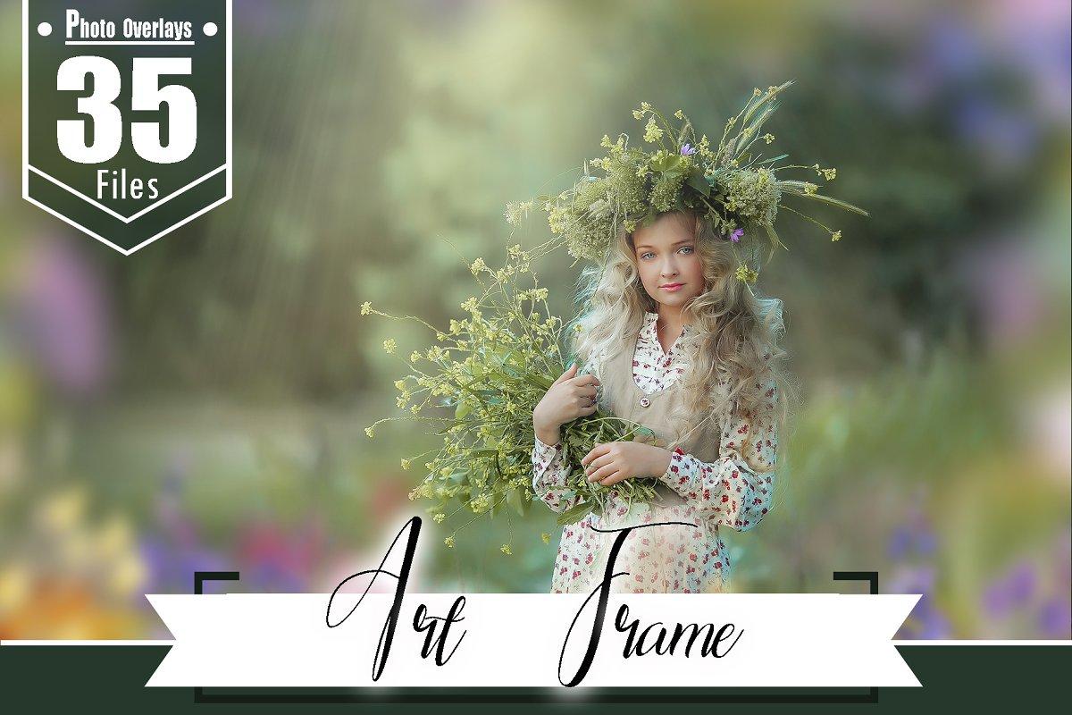 35 Art frame, flower painted