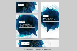 Corporate identity dark polygonal