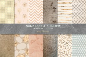 Sundrops & Gold Glimmer Textures