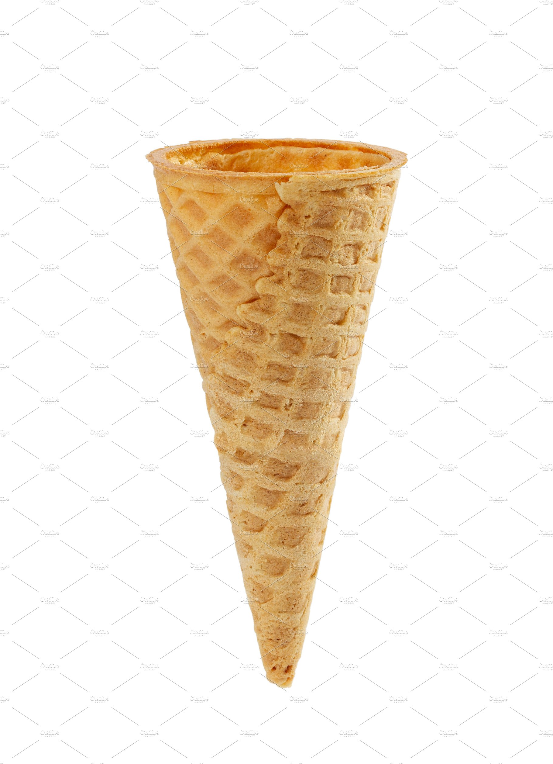 Empty waffle ice cream cone   High-Quality Food Images ...  Ice Cream Cone Images