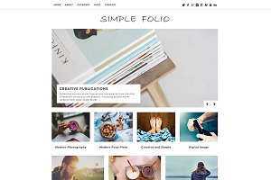 Simple Folio WordPress Theme