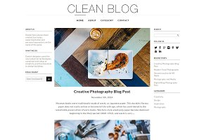 Clean Blog Responsive WP Theme
