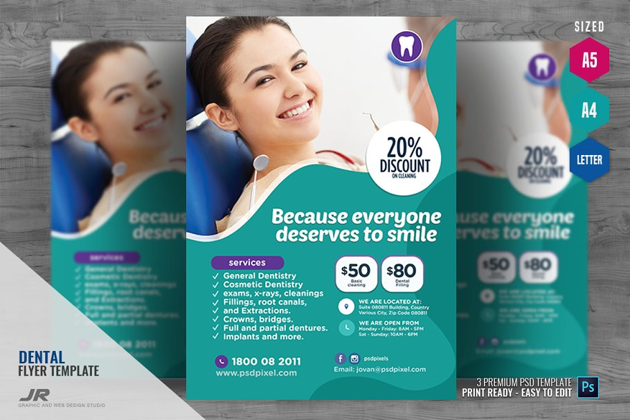 General Dentistry Services ~ Flyer Templates ~ Creative Market