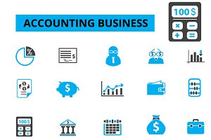 20 accounting business icons