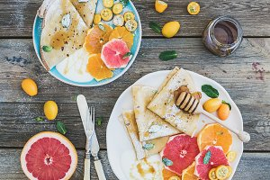 Spring vitamin breakfast set