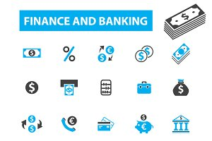25 finance and banking icons