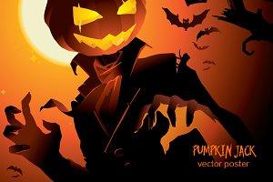 Pumpkin Jack vector poster
