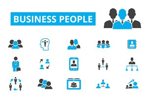 30 business people icons