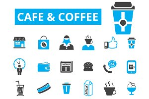 30 cafe and coffee icons