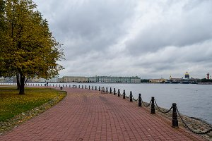 Autumn over the Neva river