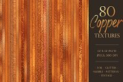Copper metallic textures bundle