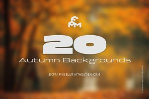 20 Autumn Blurred Backgrounds