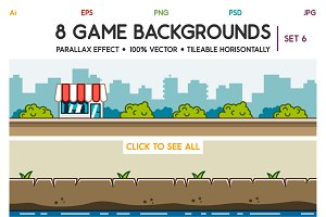8 Game Backgrounds Set 6