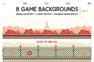 8 Game Backgrounds Set 7