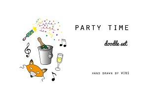 Party time. Doodle set