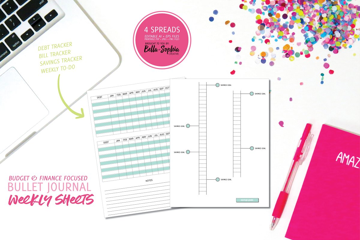 Budget/Finance Weekly Planner Pages