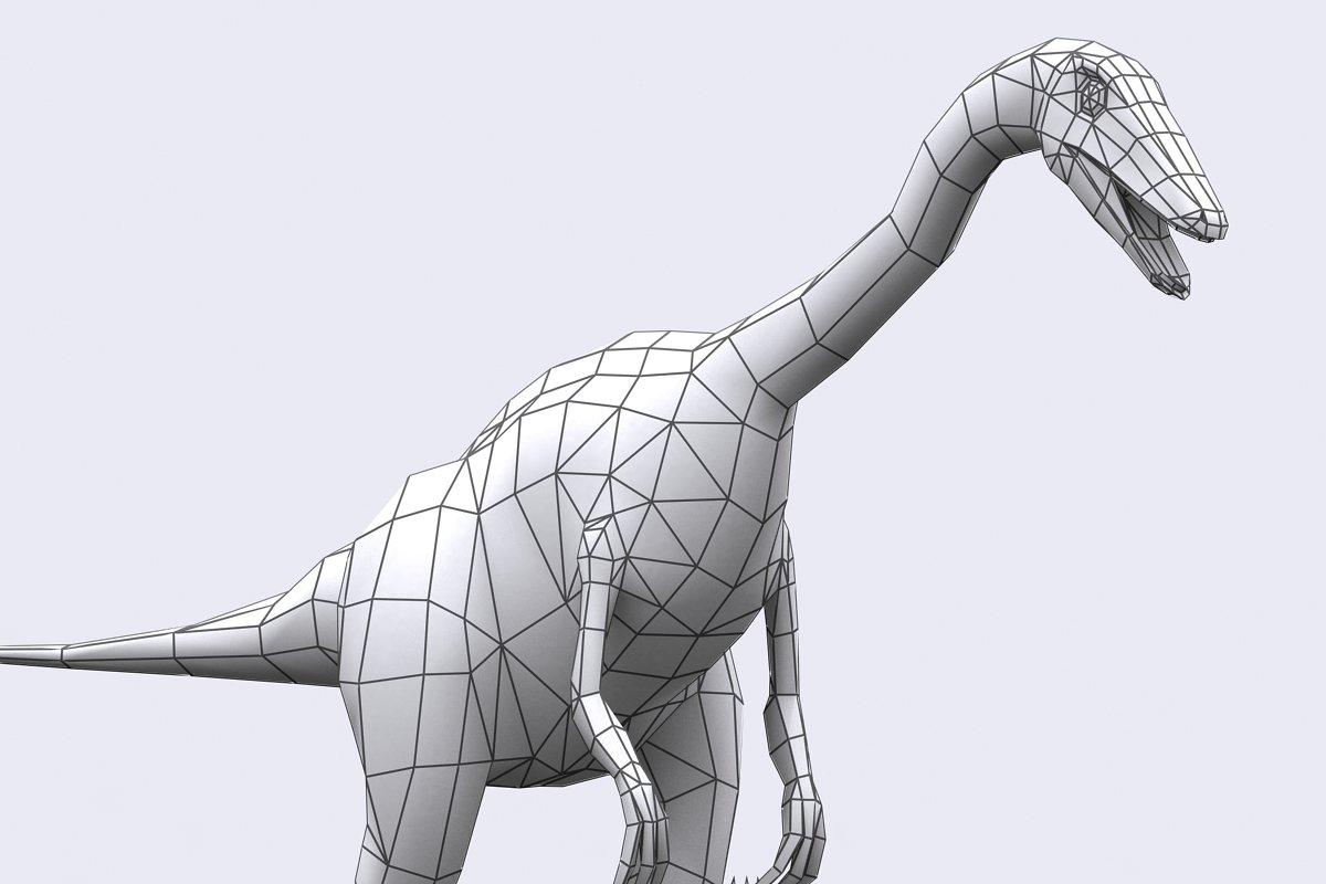 3DRT - Dinosaurs - Compsognathus