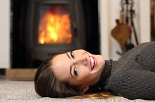 Beauty woman with perfect smile resting at home.jpg