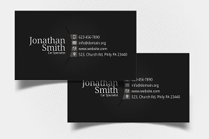 Black-Grey Personal Business Card