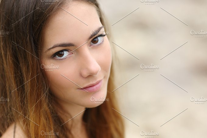 Portrait of a beautiful woman with big eyes and smooth skin.jpg - Beauty & Fashion