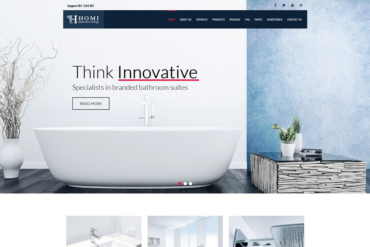 Homi – Bathroom Fixtures WP Theme in WordPress Business Themes - product preview 1