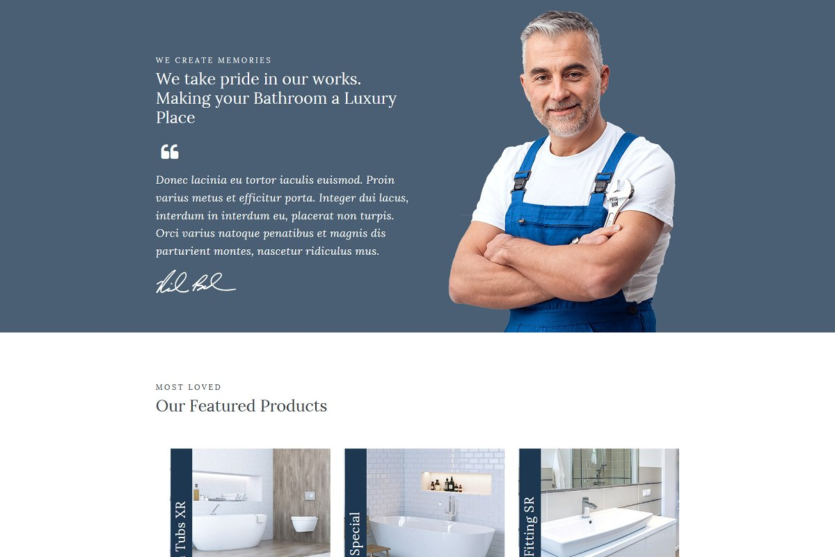 Homi – Bathroom Fixtures WP Theme in WordPress Business Themes - product preview 2