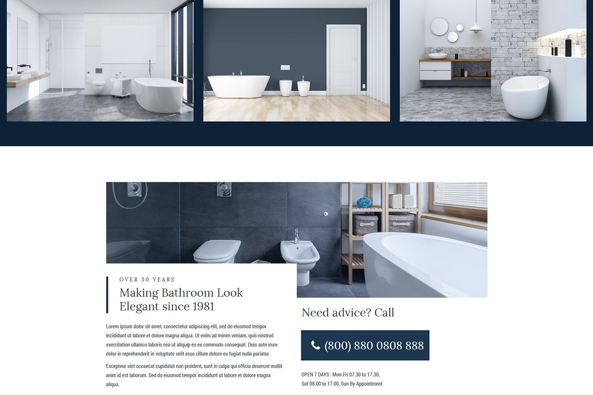 Homi – Bathroom Fixtures WP Theme in WordPress Business Themes - product preview 4