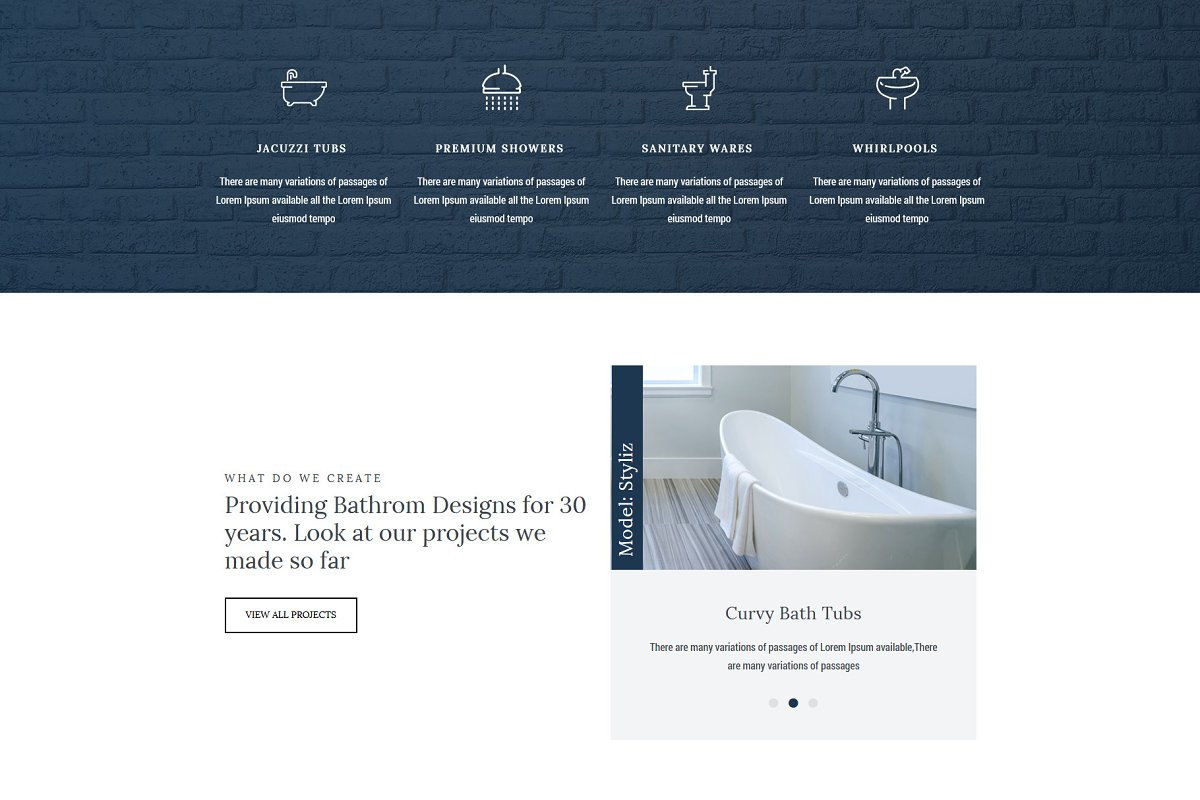 Homi – Bathroom Fixtures WP Theme in WordPress Business Themes - product preview 6