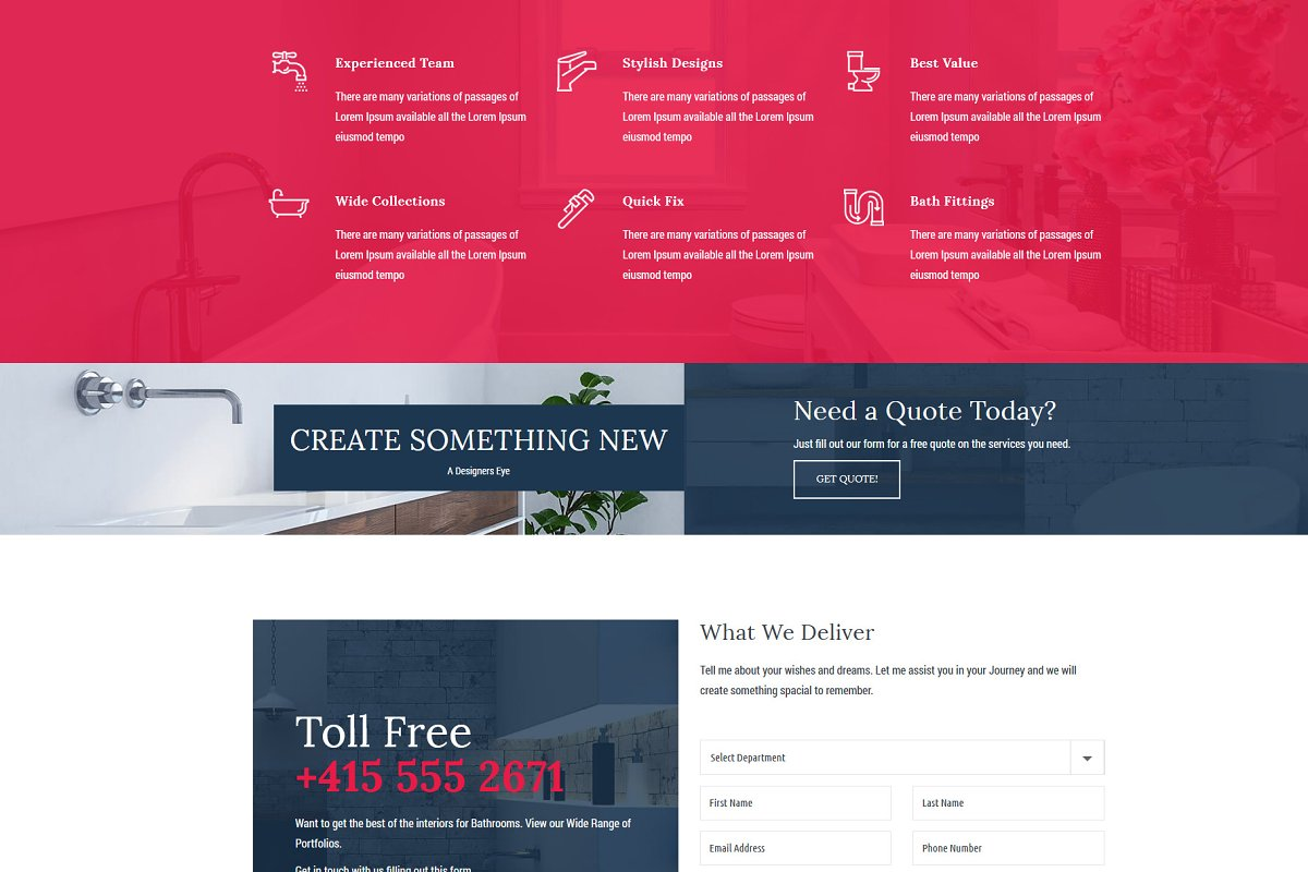 Homi – Bathroom Fixtures WP Theme in WordPress Business Themes - product preview 7