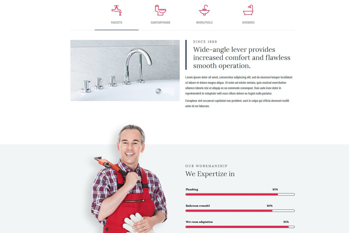 Homi – Bathroom Fixtures WP Theme in WordPress Business Themes - product preview 8