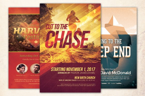 the chase church flyer bundle flyer templates creative market