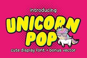 Unicorn Pop + Bonus Vector