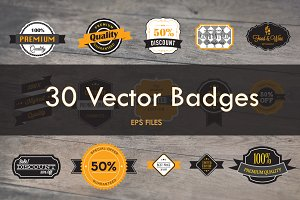 30 Vector Badges