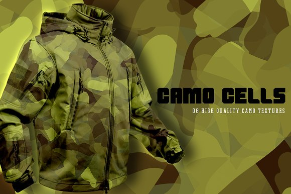 Camo Cells in Textures - product preview 5