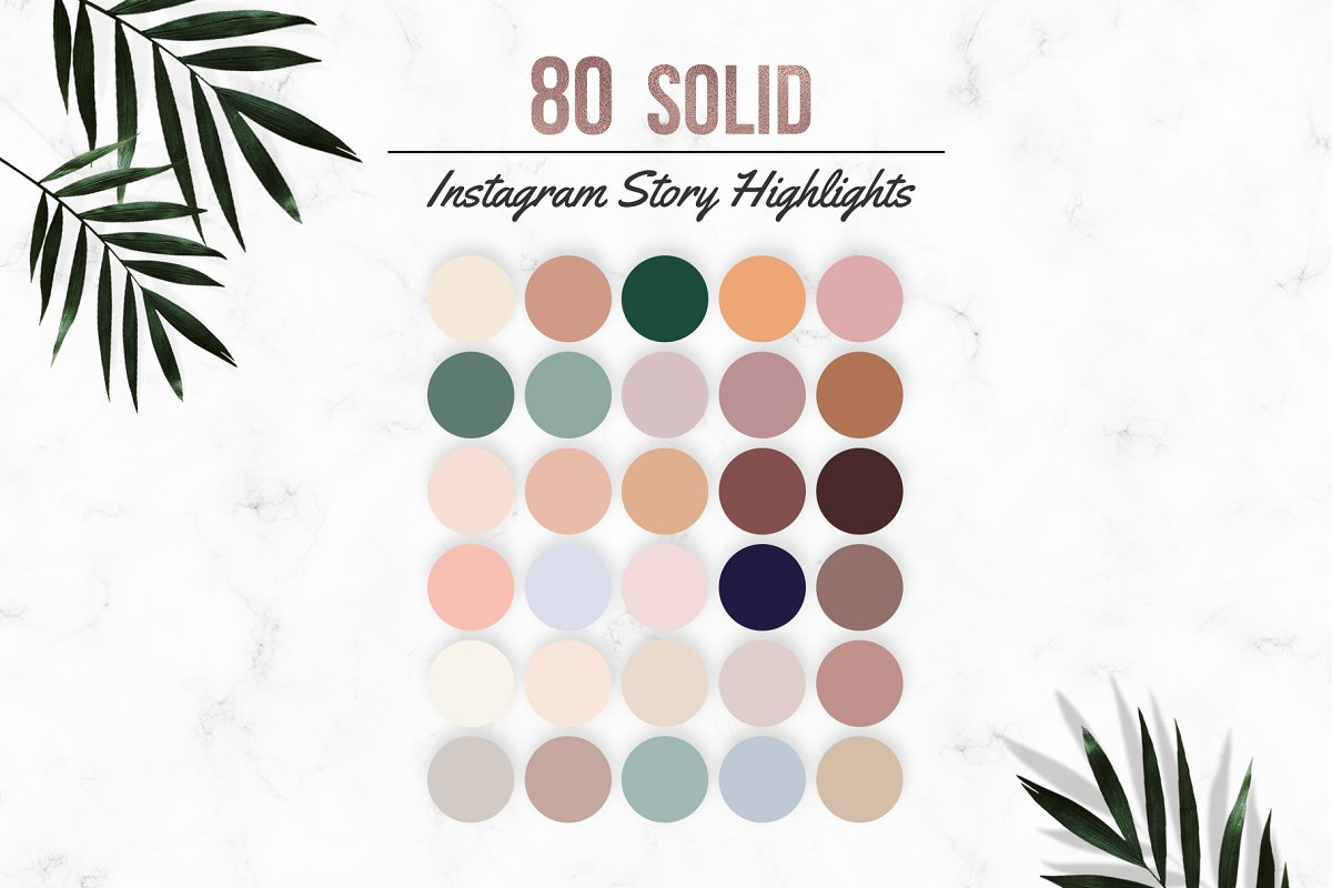 80 Solid Instagram Highlight Covers