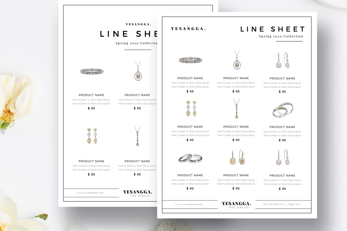 Minimalist Line Sheet Templates Stationery Templates