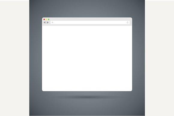 Simple flat browser window