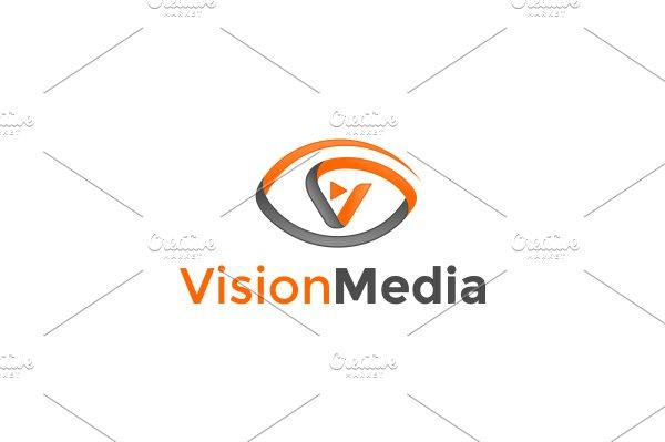 Vision Media Logo ~ Logo Templates ~ Creative Market