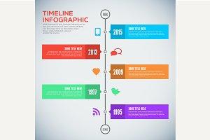 Modern timeline design template.