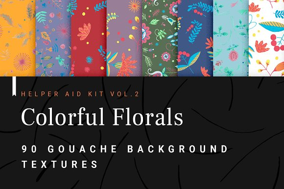 Floral Folklore Pattern Aid Kit in Textures - product preview 1