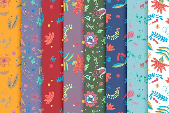Floral Folklore Pattern Aid Kit in Textures - product preview 2