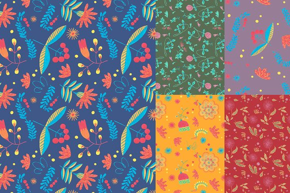 Floral Folklore Pattern Aid Kit in Textures - product preview 4