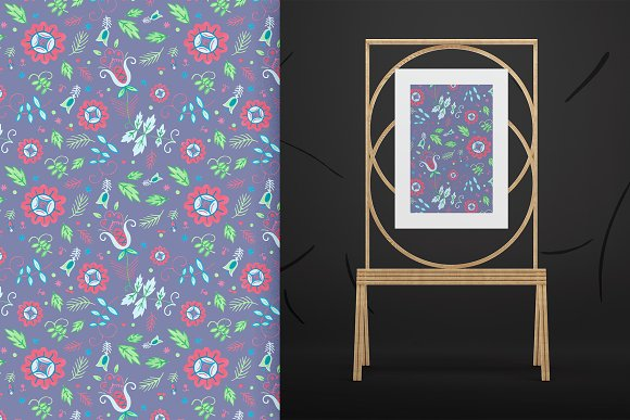 Floral Folklore Pattern Aid Kit in Textures - product preview 5