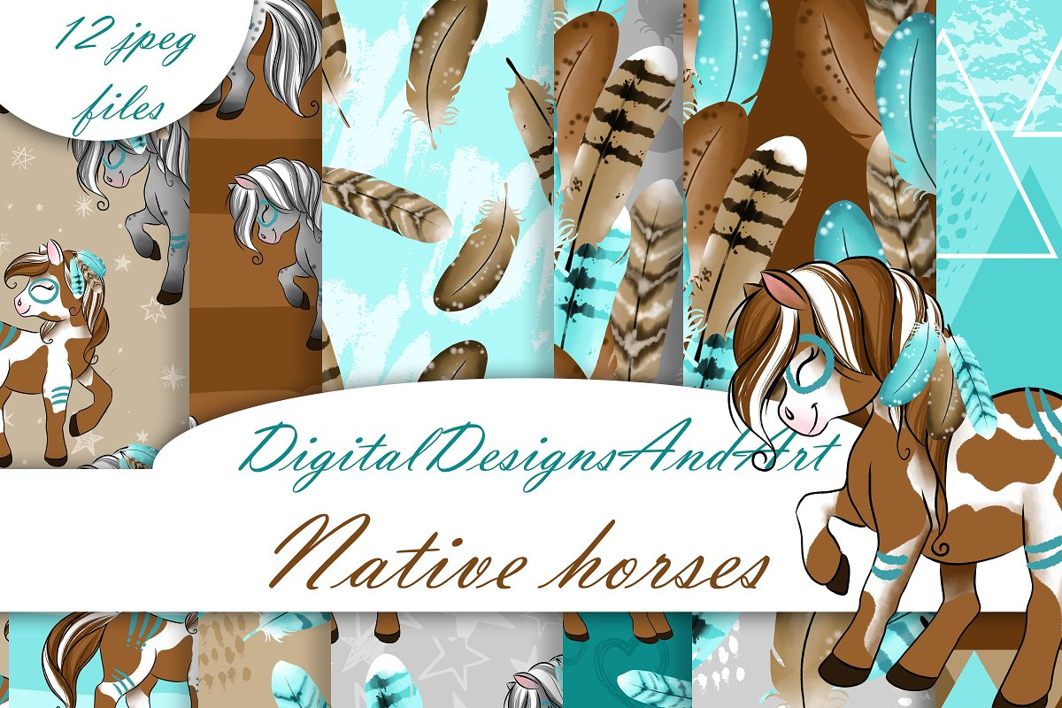 Native horses pattern